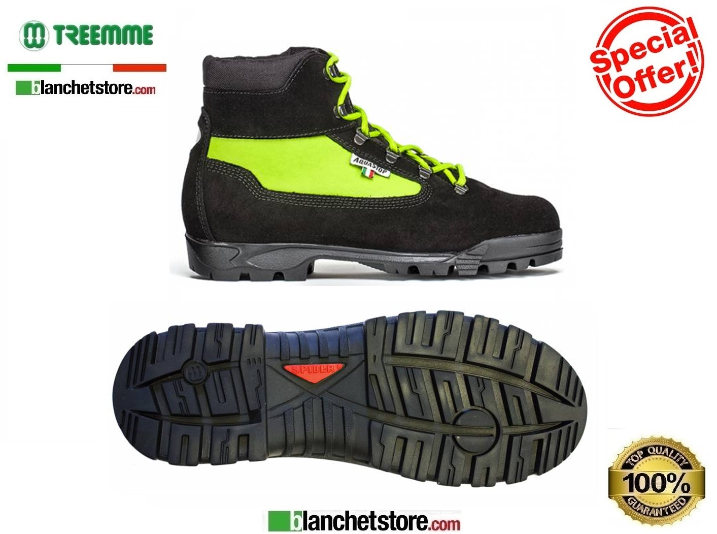 Scarponcino Trekking in crosta-cordura 9518 N.38 Acquastop Yello