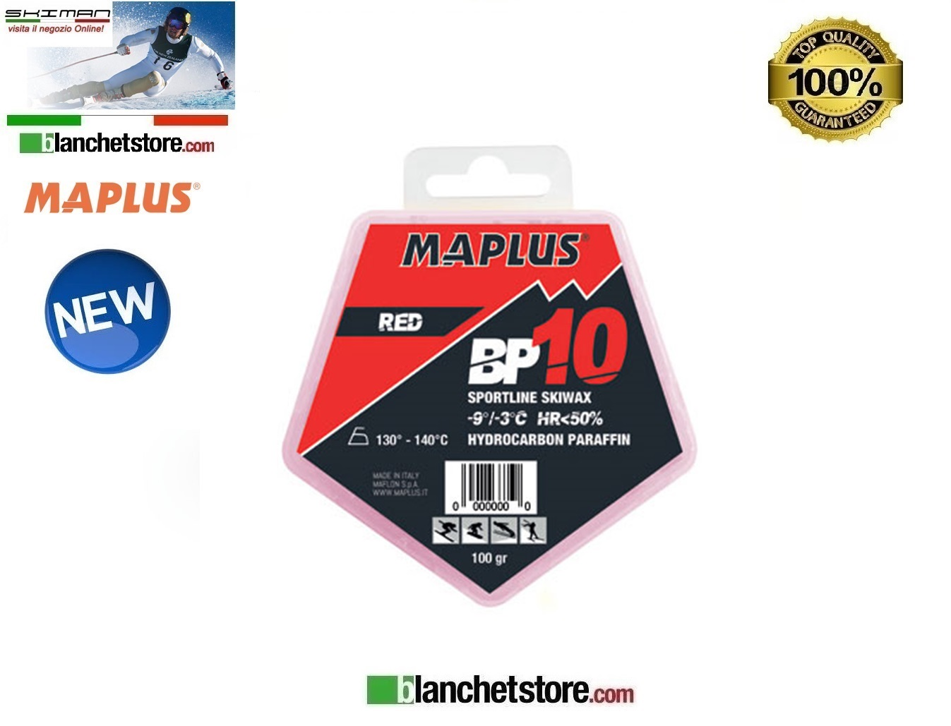 Sciolina MAPLUS BASE BP 10 Conf 100 gr RED NEW